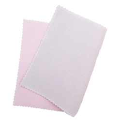 2-sided pink polishing cloth