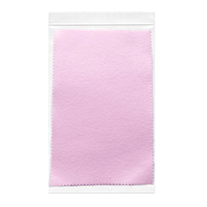 Individually wrapped PINK Sunshine® satin Polishing Cloths